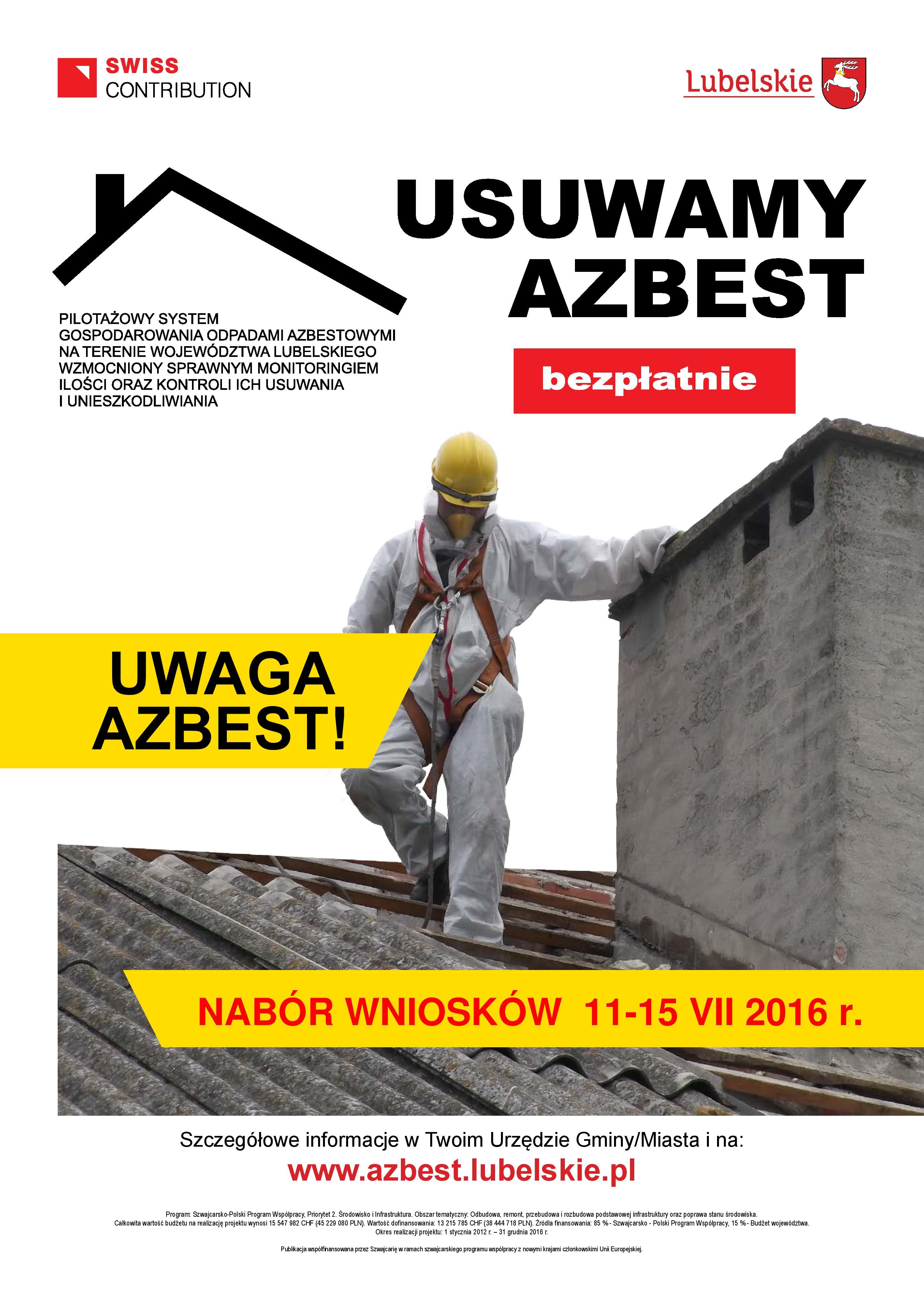 Nabór uzupe�niaj�cy na usuni�cie azbestu